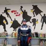 super hero at allen library summer reading